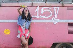 15 anos - fotografia de 15 anos - fotos de 15 anos - 15th birthday - kombi - rosa #15anos #fotografiade15anos