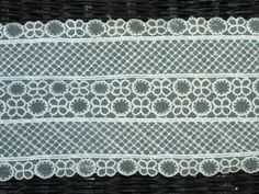 Lacey Ribbon Vintage 1950's fabric Cream by TheIDconnection, $15.00