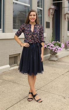 The Stacey Tulle Skirt with Tie - This tulle skirt is so fabulous!  Dress and Dwell - Good things for you and your home