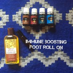 Immune Boosting Foot Roll- With young Living Essential Oils. Thyme Clove Oregano Thieves oil www.oilahava.com