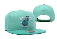wholesale new ear nba miam snapback hats 9fifty cyan fit light green outlet sale