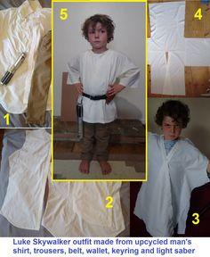 Luke Skywalker DIY costume tutorial                                                                                                                                                                                 More