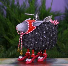 Patience Brewster Barbara Black Sheep Ornament. New Patience Brewster 2014 Ornament Collection.