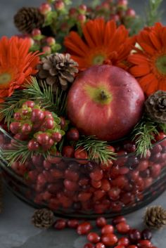 Easy Holiday/Fall Centerpiece
