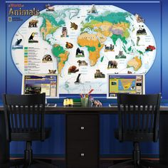 National Geographic Animals of the World Wall Mural