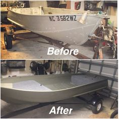 Ol' Bessie..... Matt's Jon boat revamped. Turned out pretty damn good!!!
