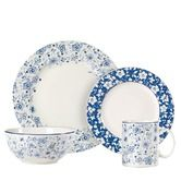 Found it at Wayfair - Blue Meadows Dinnerware Set in Blue and White