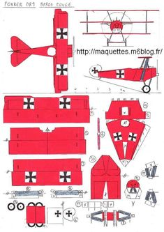 Paper Airplane Models, Model Airplanes, Paper Models, Paper Planes, House Front Design, Door Design, Cv Design, Fokker Dr1, Paper Aircraft