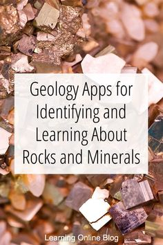 Do you have a rock hound in your family? These geology apps can help him recognize and learn about rocks and minerals. Minerals And Gemstones, Rocks And Minerals, Raw Gemstones, Earth Science, Science And Nature, How To Identify Rocks, Rock Identification, Rock Tumbling, Fossil Hunting