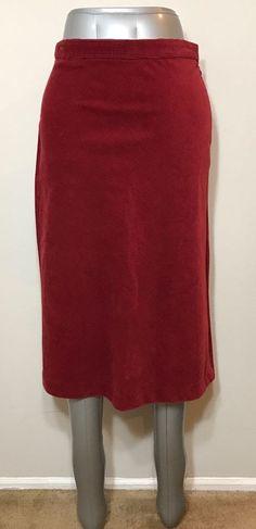 Gap Womens Size 4 Skirt Red Corduroy Below Knee Boho Festival  | eBay