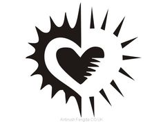 Airbrush tattoo stencil V007 Airbrush Tattoo, Wild Creatures, Tattoo Stencils, Tattoo You, Superhero Logos, Drawings, Rebel Heart, Silk, Type