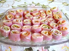 SPLENDID LOW-CARBING BY JENNIFER ELOFF: HAM AND OTHER COLD MEAT ROLL-UPS - ridiculously easy, but oh so tasty! Visit us for more tasty recipes at: https://www.facebook.com/LowCarbingAmongFriends