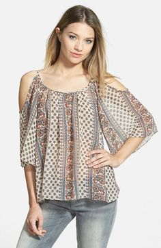 Soprano Cold Shoulder Blouse (Juniors) available at #Nordstrom