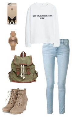 """Sans titre #20"" by roxanedz on Polyvore featuring mode, Frame Denim, MANGO, Wet Seal, Casetify et Topshop"