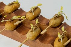 Kobe beef corn dogs with whole grain honey mustard from Neuman's Kitchen