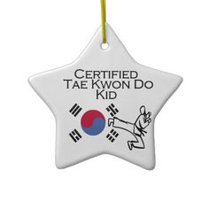 Shop Certified Tae Kwon Do Kid Ceramic Ornament created by cornerjudge. Summer Camp Crafts, Camping Crafts, Kids Camp, Camping With Kids, Kids Christmas Ornaments, Christmas 2016, Holiday Crafts, Holiday Ideas, Taekwondo Kids