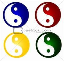 Symbols of Tai Chi is a very traditional and chinese concept. The combination of 'Ying'(female) and 'Yang'(male) is representing the harmony all over the world and among all creatures. Many technology and inventions of the old Chinese is in fact based on this theory. So cool~