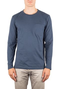 CARBON |BIO-BAUMWOLLE LANGARM | Funktion Schnitt #organiccotton #longsleeve #tshirt #shirt #mensstyle #menswear #fashion #mensfshion #business #look #funktionschnitt #casual #basic #blue