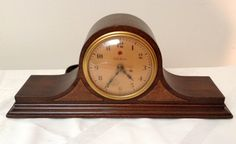 Vintage Telechron Tambour Style Mantle Clock Working - Made by Warren Telechron C0. -Circa 1930-1940 U.S.A by TheVintageFleaStore on Etsy https://www.etsy.com/ca/listing/531008524/vintage-telechron-tambour-style-mantle