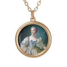 FRANCOIS BOUCHER - MADAME BERGERET portrait art Jewelry #francois #Boucher #madame #bergeret #painting #rokoko #gift #accessory #decoration #lady #art #Paris #France