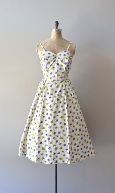 1950s dress / vintage 50s dress / Scribble Widget dress