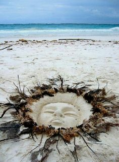 Bohemian Beach art - sunshine in the sand