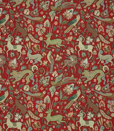Save on our Red JF Tapestry Traditional Fabric. This Regular fabric is perfect for Curtains, Blinds & Upholstery. Traditional Fabric, Mood Colors, Colours, Curtain Fabric, Curtains, Tapestry Fabric, Red Fabric, Textile Design