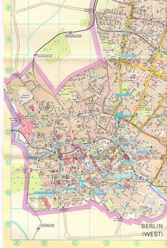 DDR Map of East Berlin