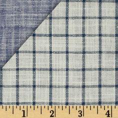 Kaufman Double Cloth Cotton Indigo Check - for a scout tee