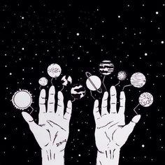 #sketch #space #stars #planets #blackandwhite #скетч