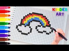 Как нарисовать радужное сердце. Рисунки по клеточкам | How to draw a rainbow heart Pixel Art - YouTube Minecraft Crochet, Minecraft Pixel Art, Square Drawing, Graph Paper Drawings, Modele Pixel Art, Cool Pixel Art, Pixel Drawing, Pix Art, Diy Notebook