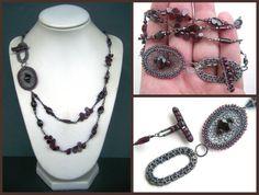 garnet necklace by annie-jewelry on deviantART