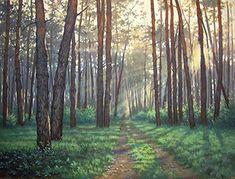 White Forest by Stefan Conka. Landscape Paintings, Oil Paintings, Original Art, World, Plants, Art, Landscape, Oil On Canvas, The World