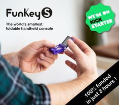 Ultra-compact, foldable, powerful and comfortable, the FunKey S is the perfect handheld for playing retrogames anywhere, anytime.