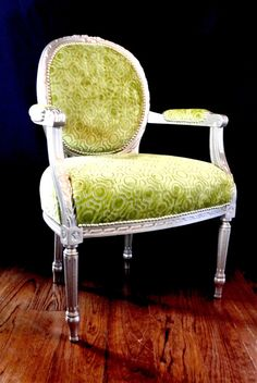 Gold Leaf French Chair by ChairWhimsy on Etsy