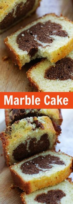 Marble Cake – rich and buttery homemade marble cake recipe with lots of chocolate. Every bite is chocolatey and sweet. Make it at home today | rasamalaysia.com