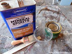 "Dark Wax Tutorial | Sweet Pickins Furniture. Using mineral spirits to make dark wax more ""manageable"""