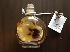 Kahar-Botanical-8-oz-Unscented-Oil-Lamp-with-yellow-flowers