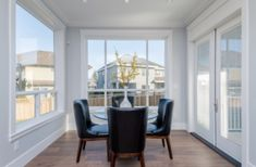 This kitchen nook is nice & bright. Complimented by huge windows. Bc Home, Huge Windows, Home Warranty, Kitchen Nook, Vancouver Island, Project Management, Building A House, New Homes, Construction