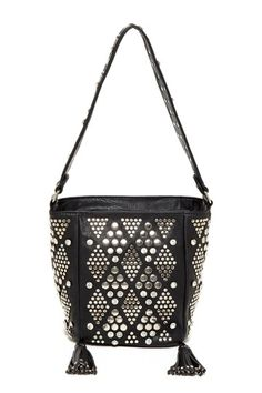 ☆ Rock 'n' Roll Style ☆  studded metal purse with tassels