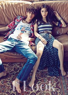 Girls' Generation Tiffany and Model Lee Chul Woo Pose for 1st Look Magazine