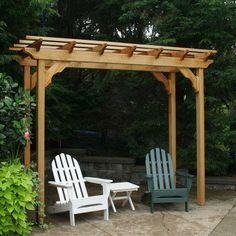 The pergola kits are the easiest and quickest way to build a garden pergola. There are lots of do it yourself pergola kits available to you so that anyone could easily put them together to construct a new structure at their backyard. Diy Pergola, Cedar Pergola, Small Pergola, Pergola Canopy, Pergola Attached To House, Deck With Pergola, Outdoor Pergola, Covered Pergola, Pergola Shade