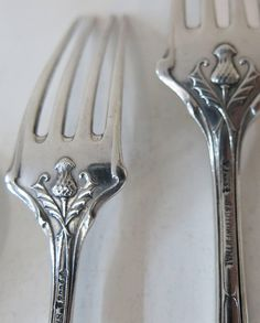 Vintage Silver, Antique Silver, Scottish Thistle, Celtic Tree, Silver Spoons, Flatware Set, Kugel, Vintage Items, Sterling Silver