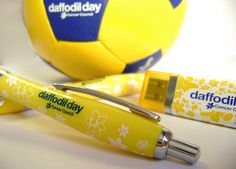 #DaffodilDay #Pen, #USB stick + mini #Football. Produced by IMI.