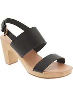 Women's Double-Strap Block-Heel Sandals | Old Navy