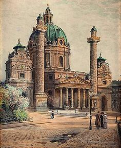 Ernst Graner Karlskirche in Wien - The Largest Art reproductions Center In Our website. Low Wholesale Prices Great Pricing Quality Hand paintings for saleErnst Graner Vienna Austria, Large Art, Art Reproductions, Art For Sale, Notre Dame, Barcelona Cathedral, Taj Mahal, Building, Europe