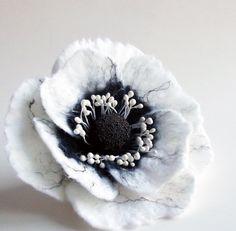Felted Flower Brooch Hand Felted Jewelry Flower ♥ by FeltFatal, $21.00