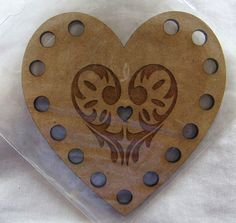 Heart shape Embroidery Thread Floss Holder by AiguilleAnglaise