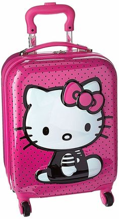 Heys 18 inch 3D Hello Kitty Spinner Carry-on Suitcase Pink Black  696394853201   eBay fb57e45e6d