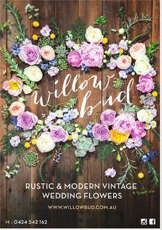 The Bride's Tree Volume 10 Modern Vintage Weddings, Vintage Wedding Flowers, Rustic Weddings, Modern Rustic, Garden Wedding, Floral Wreath, Reception, Sunshine Coast, Table Decorations